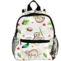Small Size Lightweight Travel School Backpack for Boys Girls Kids with Baby Sloth Nursery