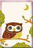 和風イラスト ポストカード 「小枝ふくろう」 ふくろう絵葉書 和道楽