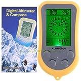 [jiroo] デジタルコンパス 電子コンパス ★ 簡単計測 登山 ヨット 温度計 高度計 気圧計 【多機能&高品質】