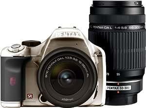 PENTAX デジタル一眼レフカメラ K-x ダブルズームキット シルバー/ブラック 096