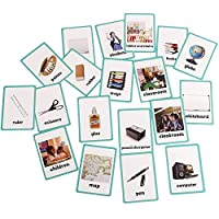 (Classroom) - Baby Favours Educational Live Picture Cards of Classroom 20 pc. Set for Children ages Preschool Pre-K, thru Grade School for Parent, Teachers, Therapists to Help develop early English Language Skills
