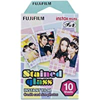 FUJIFILM インスタントカメラ チェキ用フィルム 10枚入 絵柄 (ステンドグラス) INSTAX MINI STAINEDGLASS1