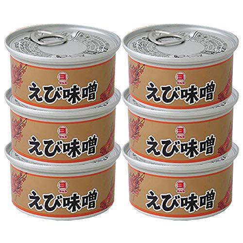 えび味噌 えびみそ 缶詰 100g 6個セット おつまみ 珍味 日本製 父の日