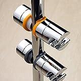 【福美康】 シャワー フック スライド バー 用 掛具 22?25 mm 角度 調節 可変 調整 自由 自在 (オレンジ)