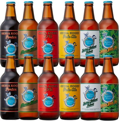 志賀高原ビール クラフトビール 飲み比べセット 6種12本 ブルワリー直送 セット 長野県 地ビール 玉村本店