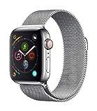 Apple?Watch Series?4(GPS?+?Cellularモデル)- 40mmステンレススチールケースとミラネーゼループ