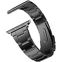 JEDirect Apple Watch 用バンド Series 1 2 3対応 ステンレス留め金製 42mm ブラック
