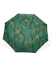 AOMOKI 折り畳み傘 折りたたみ傘 手開き 日傘 三つ折り 梅雨対策 晴雨兼用 UVカット 耐強風 8本骨 男女兼用 孔雀