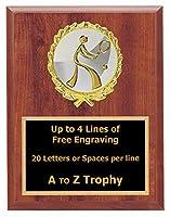 テニスPlaque Awards 5x 7木製ラケットスポーツトロフィーTournament Trophies Free Engraving