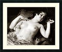 アートフレーム印刷' Grace ' byヴィンテージNudes Size: 29 x 24 (Approx), Matted ブラック 2241674