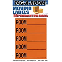 Tag-A-Room Color Coded Home Moving Packing Box Labels (Room Blank Orange) [並行輸入品]