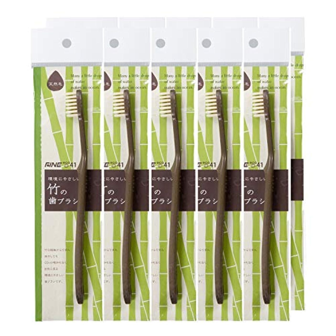 叙情的な構成する急勾配の【FINE ファイン】FINEeco41 竹の歯ブラシ 天然毛タイプ 10本セット