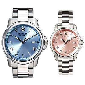 スイスミリタリー腕時計 ローマン(Roman) ペアウォッチ ML389-ML390[正規輸入品]