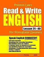 Preston Lee's Read & Write English Lesson 21 - 40 For Portuguese Speakers