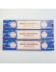 HEM社の7チャクラ&SATYA サイババナグチャンパ香 3箱セット