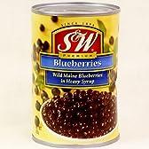 訳あり S&W ブルーベリー blueberries in heavy syrup 425g (Discount crushed cans.) 缶詰 賞味期限 2016.10.27