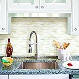 ブリックタイルシール キッチン 洗面所 トイレの模様替えに最適のDIY 壁紙デコレーション LBT-2 ホワイト Brick white 【 自作アートインテリア / ウォールステッカー 】
