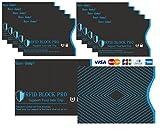 Hans dampf スキミング防止カードケース RFID BLOCK PRO クレジットカード用(10枚)+パスポート用(2枚) 計12枚入り