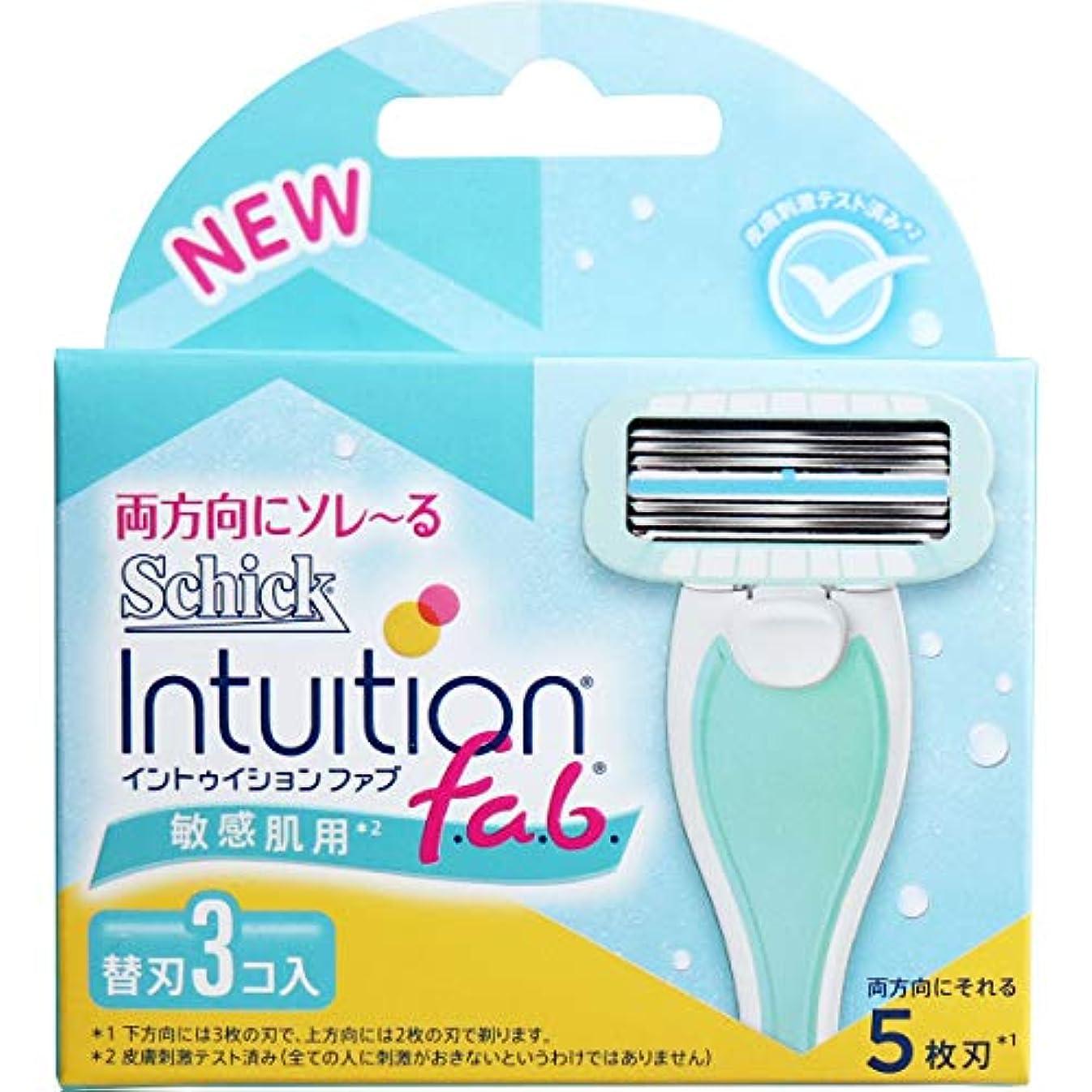 実行カラス凍るシック イントゥイション ファブ 敏感肌用 替刃3個入×10個セット