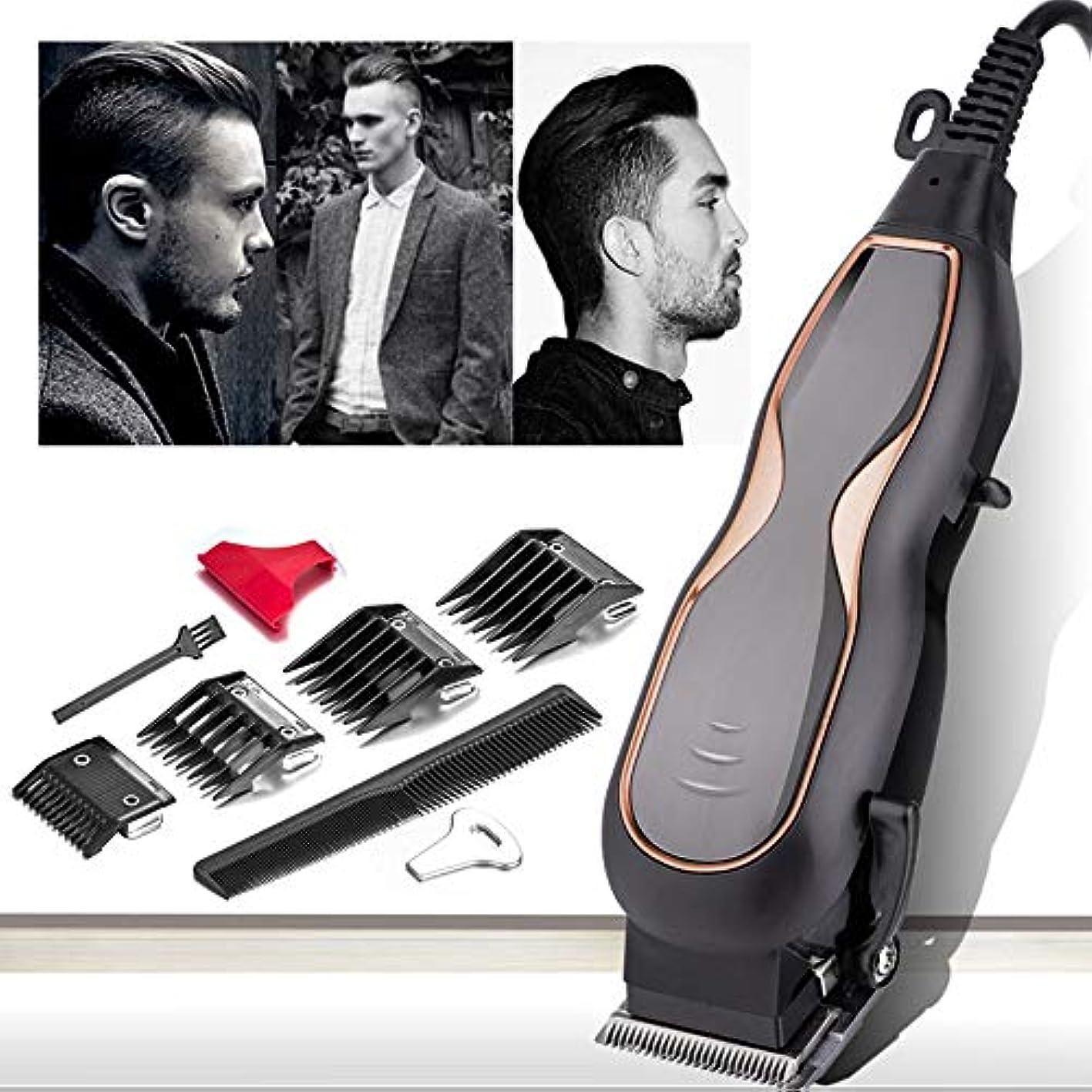 喜ぶ小数レザープロのバリカンミュートウルトラパワー電動ヘアトリマー理髪サロン男性ヘア切断機コード220V