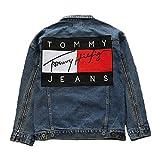 tommy jeans ユニセックスデニムジャケット 男女兼用トップス レジャージャケット tommy hilfiger ジーンズ トミーGジャケット ..