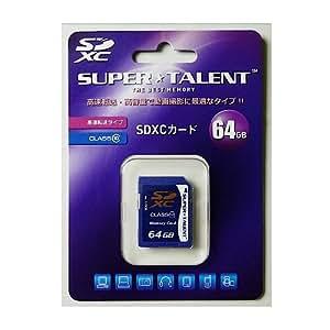SuperTalent SDカード 64GB CLASS10 ST64SDC10