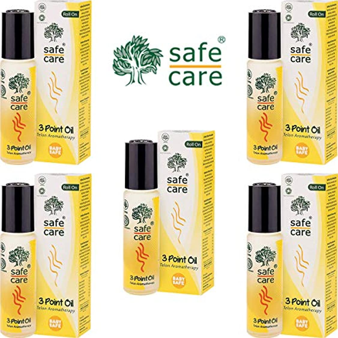 画面上がる文明化するSafe Care セーフケア Aromatherapy Telon 3Point Oil アロマテラピー リフレッシュオイル テロン3ポイントオイル ロールオン 10ml×5本セット [海外直送品]