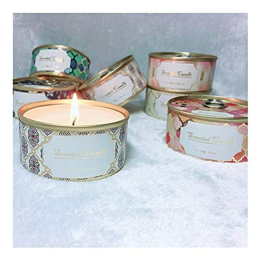 刈る現実的自治Guomao ブリキ缶植物エッセンシャルオイル大豆ワックスライチ茶香りキャンドル (色 : Lychee tea)
