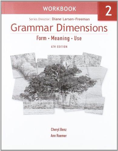 Download Grammar Dimensions, 4/e Book 2 : Workbook 1424003539