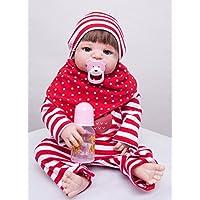 annedoll 22インチフルボディシリコンReborn人形Baby Girl Lovely 55 cm Lifelike新生児赤ちゃん(レッドスキンPaintedボディ)子成長パートナーギフト