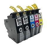 """LC3111(BK×2/C/M/Y)-5本 ブラザー用 互換 インクカートリッジ 残量表示付き APEX製の最新ICチップを採用 【互印製】 ISO14001、ISO9001及び国際品質規格""""STMC""""認証工場製造品"""