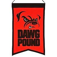 "Cleveland Browns Winning Streak "" Dawg Pound "" Franchiseウールバナー( 14"" x22"" )"