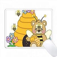 かわいいハチミツとハニーの蜂のイラスト PC Mouse Pad パソコン マウスパッド