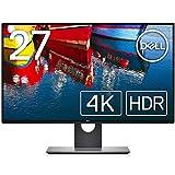 Dell 4Kモニター 27インチ 広視野角 フレームレス Dell HDR sRGB99.9% IPS DP,mDP,HDMI 高さ調整,回転 3年間輝点+交換保証 U2718QM