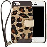 RAKUNI Leather Case for iPhone SE / 5s / 5(レパード)