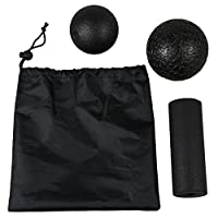 SODIAL 様々な1ラクロスボール+ 1筋球+ 1ヨガカールの筋膜のためのヨガマッサージセット製品