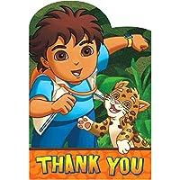 Amscan Fun Diego 's Biggest Rescue誕生日PARTY Thank Youカード8ピース、4–1/ 4x 6–1/ 4インチ、マルチ