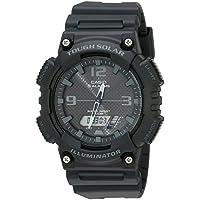 Casio Unisex-Adult Solar Powered Wrist Watch analog-digital Display and Resin Strap, AQS810W-1A2