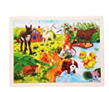 新品!60ピース/動物  認知/幼児玩具/木製パズル/木製おもちゃ パズル/大人気 /誕生日プレゼント/知育玩具/幼児教育/子供おもちゃ/知識を増すおもちゃ雑貨 /木制品/C-zqzb0753-1