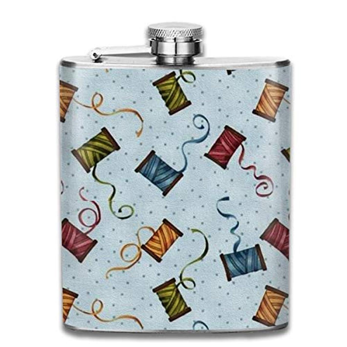 破壊浜辺代理人カラフルな線 フラスコ スキットル ヒップフラスコ 7オンス 206ml 高品質ステンレス製 ウイスキー アルコール 清酒 携帯 ボトル