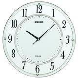 SEIKO CLOCK セイコークロック ソーラー電波掛け時計 ソーラープラス SF506Wの画像