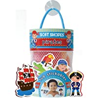Innovative Kids Soft Shapes Illustration Tub Stickables Pirates Playset