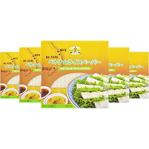 友盛貿易 サイゴンキッチン 市販用ライスペーパー(22cm) 15枚×5個