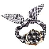 PolytreeレディースGirl 's花柄布バンドフラワードレスクォーツ腕時計(タイプ20)