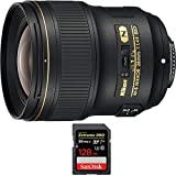 Nikon af-s Nikkor 28 MM F / 1.4e Edレンズ( 20069 ) with SanDisk Extreme Pro SDXC 128 GB UHS - 1メモリーカード、最大95 / 90mb /..