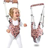 Baby Walker, Baby Walking Harness Sit to Stand Learning Helper Hand-held Assistant with Crotch Adjustable Safety Lifting & Pulling Dual-use Owl Print for Toddlers Infant Kids Activity (Red)