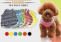 ONG 犬 服 ドッグウェア ボーダー柄 ベスト シャツ 犬服Tシャツ 春夏用 小中大型犬 6color XS-XL