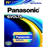 Panasonic 9V, Premium Alkaline Evolta Battery, 1 Pack (6LR61EG/1B)