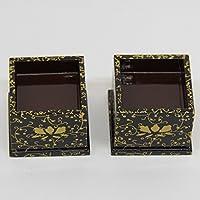雛道具 アウトレット品 火鉢単品(一対) 18ya1220 牡丹唐草