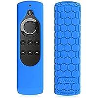 Fintie Fire TV Stick 音声認識リモコン専用カバー 軽量 滑りとめ 衝撃吸収 シリコン保護ケース (ブルー)